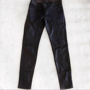 J Brand Jeans Coated Purple Lacquer Skinny Jean